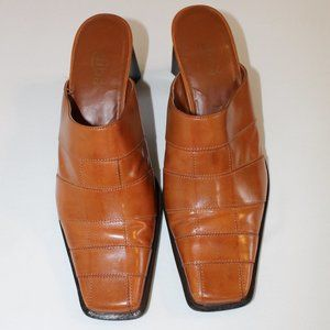 Diba mules, size 10M, Cognac color